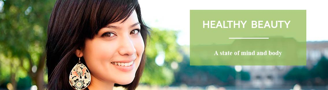 Header Image with Photo Pretty Young Woman.