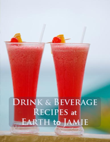 Two Tall Yummy Tropical Drinks. Recipes at Earth to Jamie.