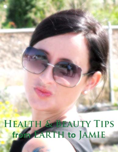 Health Beauty Tips with Picture of Quirky Girl.