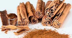 Bunch of Cinnamon Sticks. Homemade Mouthwash Recipe.